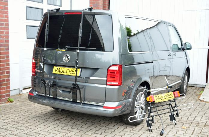 Volkswagen Bus T6 Bike carrier with separated comfort load expansion.