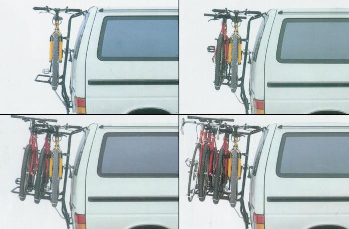 Rear Carrier expandable up to 4 bicycles
