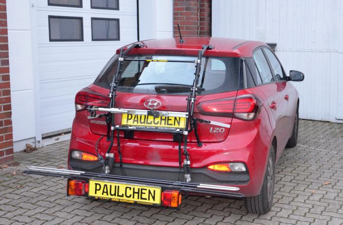 Hyundai i20 Facelift (GB) Bike carrier with comfort load expansion in loading position. Without trailer hitch!