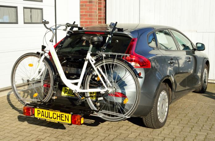 Volvo V40 (525/526) Bike carrier with comfort load expansion and loaded bike. Without trailer hitch!