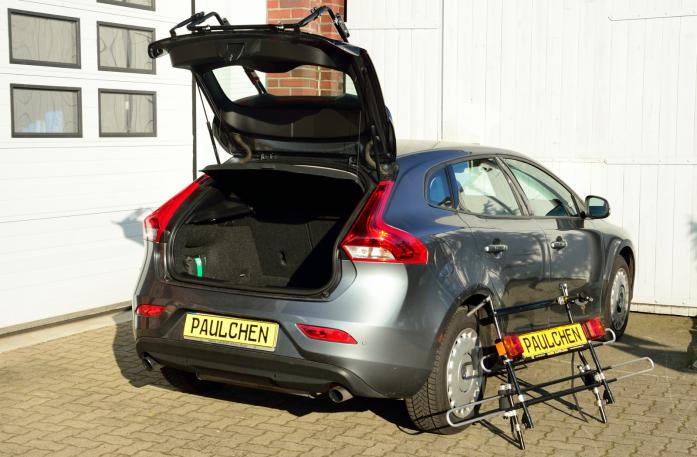 Volvo V40 (525/526) Bike carrier with separated comfort load expansion.