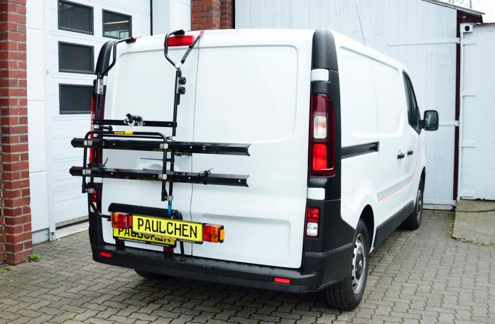 Nissan NV300 Bike carrier in standby position