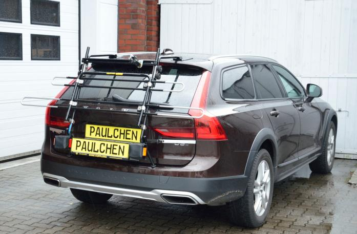 Volvo V90 Bike carrier in standby position
