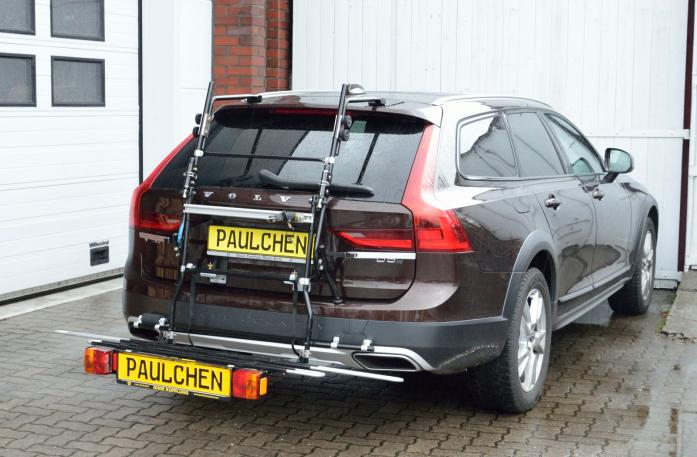 Volvo V90 Bike carrier with comfort load expansion in loading position. Without trailer hitch!