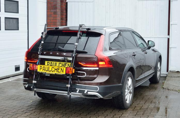Volvo V90 Bike carrier with comfort load expansion in standby position. Without trailer hitch!