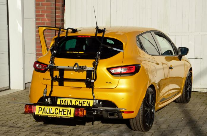Renault Clio IV RS Bike carrier with comfort load expansion in loading position. Without trailer hitch!