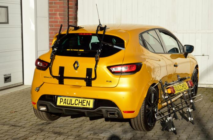 Renault Clio IV RS Bike carrier with comfort load expansion in standby position. Without trailer hitch!