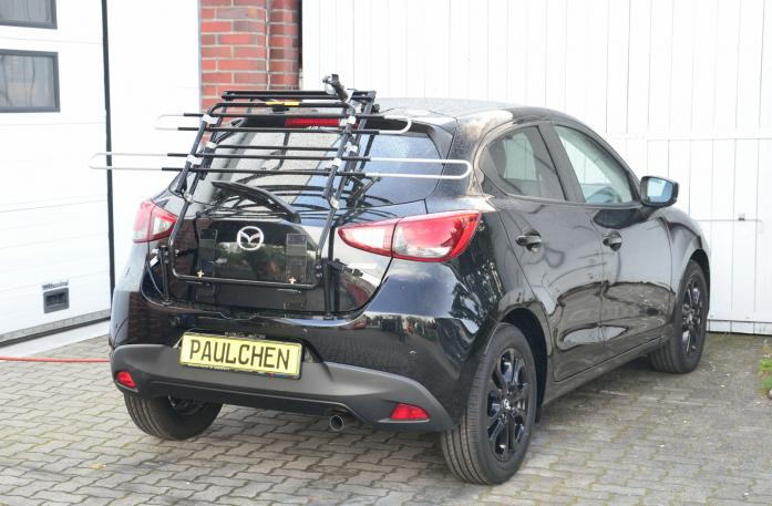 Mazda 2 (DJ) Bike carrier in standby position