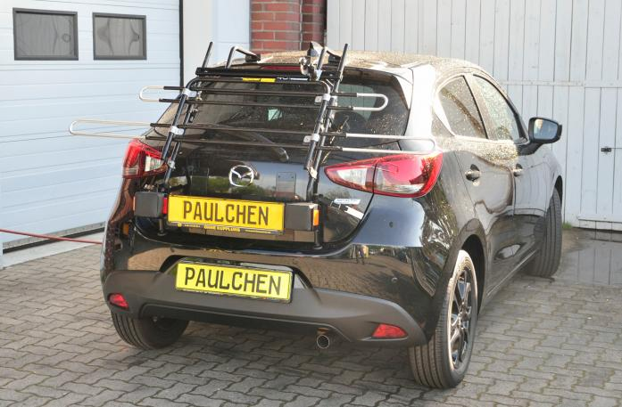 Mazda 2 (DJ) Bike carrier with light bar in standby position