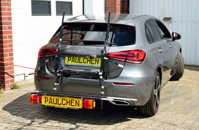 Mercedes A-Klasse (W177) Bike carrier with comfort load expansion in loading position. Without trailer hitch!