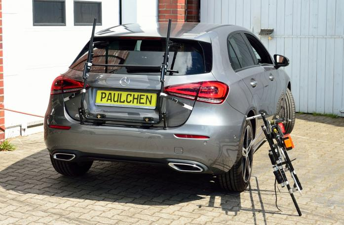 Mercedes A-Klasse (W177) Bike carrier with separated comfort load expansion.