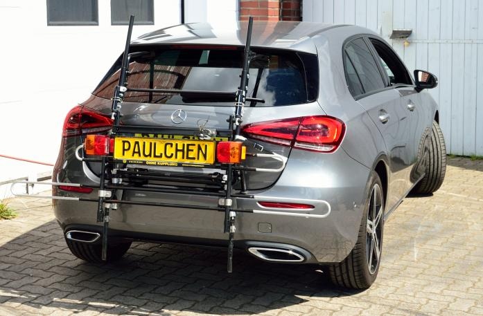 Mercedes A-Klasse (W177) Bike carrier with comfort load expansion in standby position. Without trailer hitch!