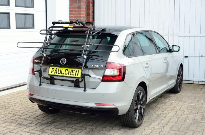 Skoda Rapid Spaceback (NH1) Bike carrier in standby position