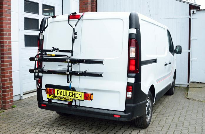 Fiat Talento Bike carrier in standby position