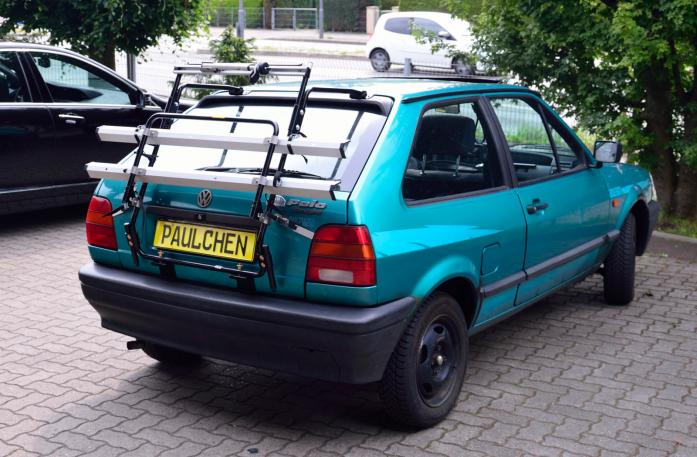 Volkswagen Polo Coupé (86C) Bike carrier in standby position