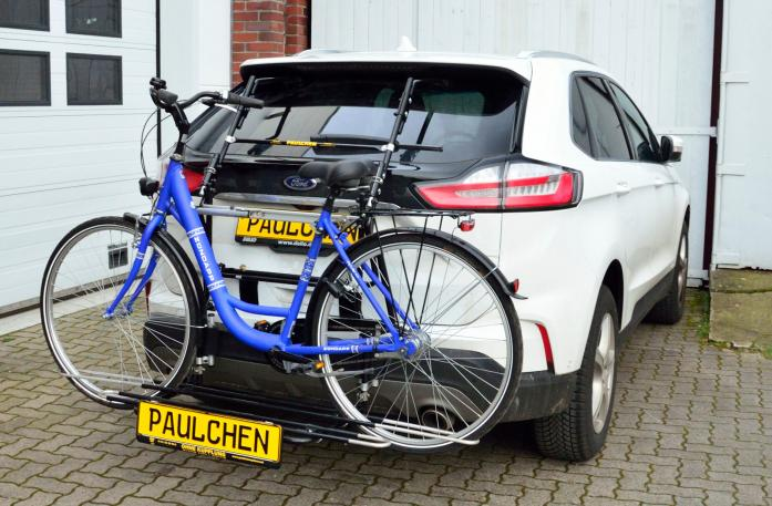 Ford Edge Facelift Bike carrier with comfort load expansion and loaded bike. Without trailer hitch!