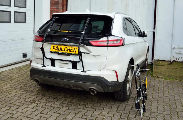 Ford Edge Facelift Bike carrier with separated comfort load expansion.
