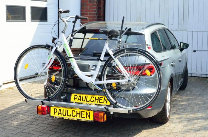 Seat Leon ST Facelift Bike carrier with comfort load expansion and loaded bike. Without trailer hitch!