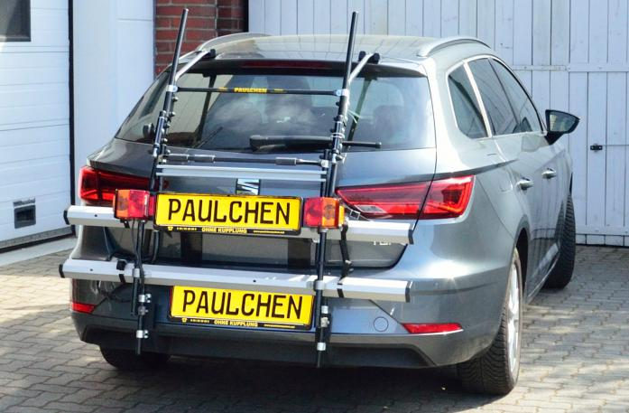 Seat Leon ST Facelift Bike carrier with comfort load expansion in standby position. Without trailer hitch!