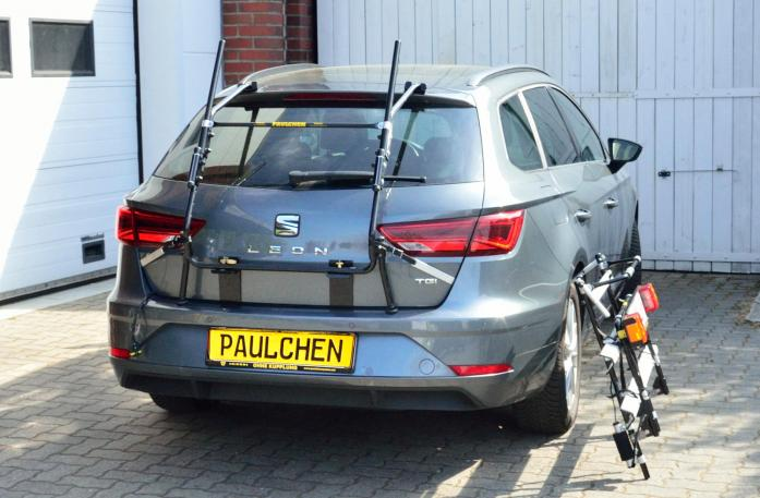 Seat Leon ST Facelift Bike carrier with separated comfort load expansion.