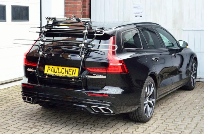 Volvo V60 Bike carrier in standby position