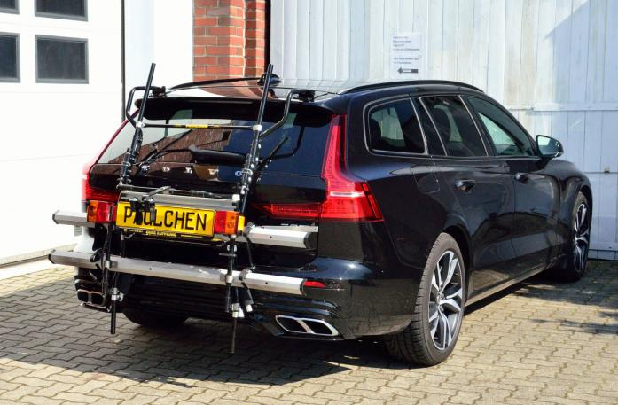 Volvo V60 Bike carrier with comfort load expansion in standby position. Without trailer hitch!