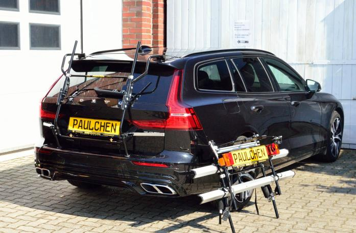 Volvo V60 Bike carrier with separated comfort load expansion.