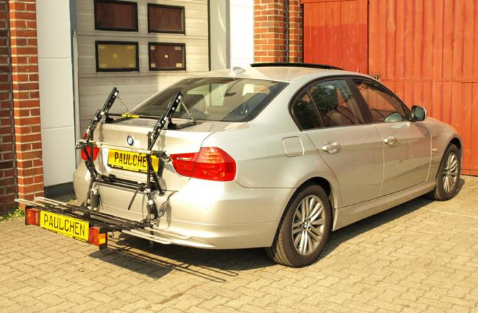 BMW 3er Stufenheck Facelift Bike carrier with comfort load extension in loading position. Without trailer hitch!