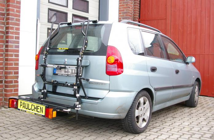 Mitsubishi Space Star (DG0) Bike carrier with comfort load extension in loading position. Without trailer hitch!