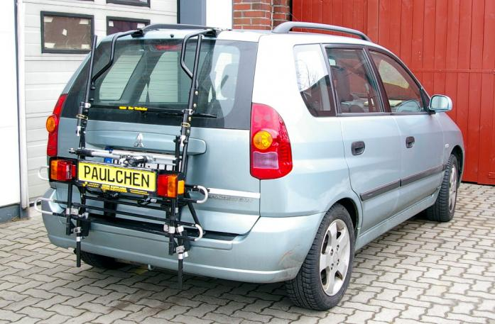 Mitsubishi Space Star (DG0) Bike carrier with comfort load extension in standby position. Without trailer hitch!