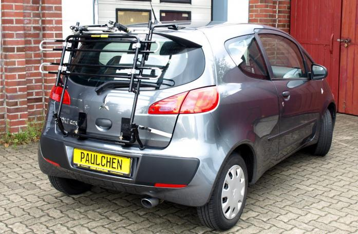 Mitsubishi Colt CZ 3 Bike carrier in standby position