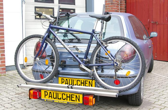 Fiat Bravo Bike carrier with comfort load extension and loaded bike. Without trailer hitch!