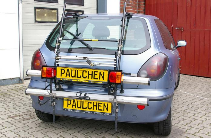 Fiat Bravo Bike carrier with comfort load extension in standby position. Without trailer hitch!
