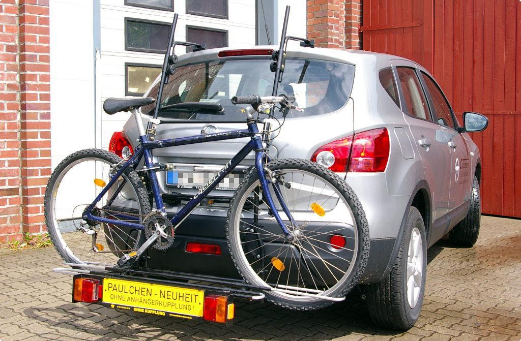 nissan qashqai fahrradträger am heck - paulchen heckträger system
