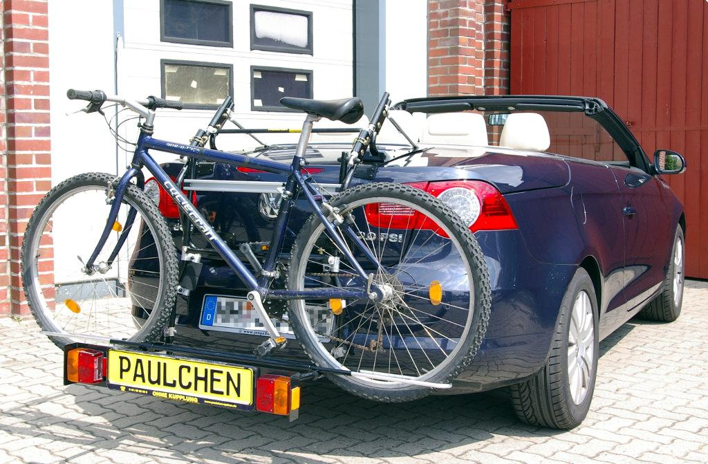 volkswagen eos fahrradtr ger am heck paulchen hecktr ger. Black Bedroom Furniture Sets. Home Design Ideas