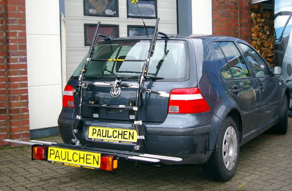 volkswagen golf iv fahrradtr ger am heck paulchen. Black Bedroom Furniture Sets. Home Design Ideas