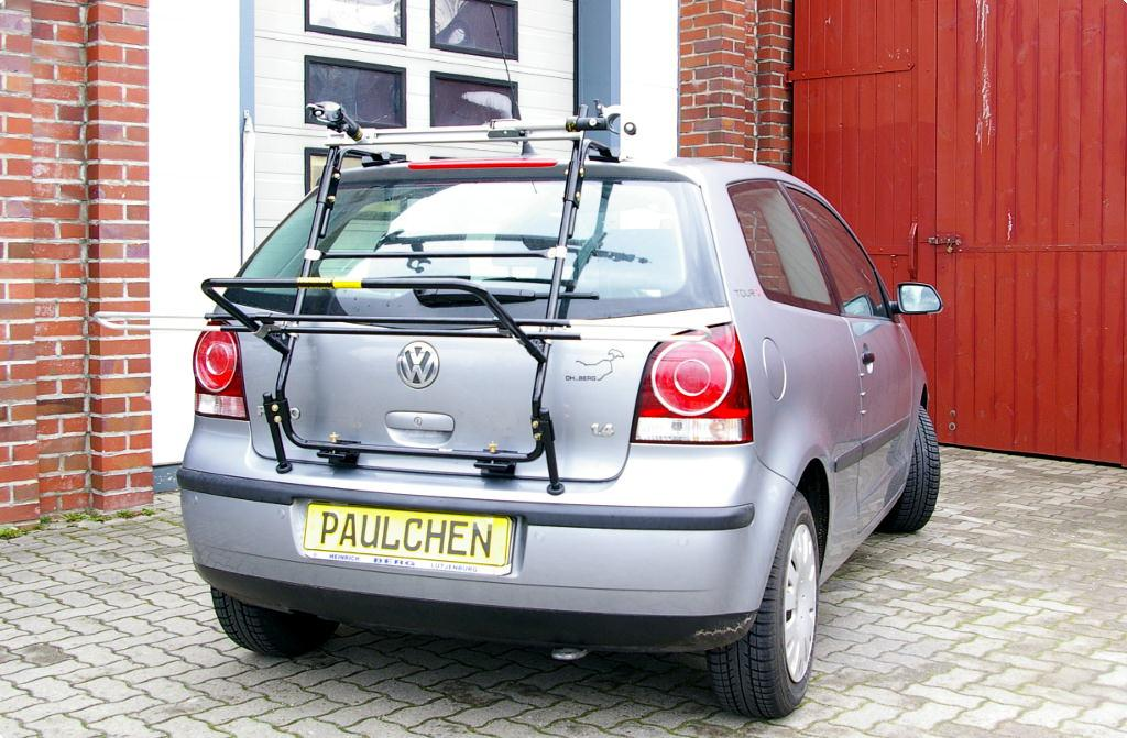 volkswagen polo fahrradtr ger am heck paulchen. Black Bedroom Furniture Sets. Home Design Ideas
