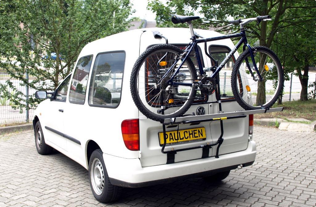 fahrradtr ger f r vw caddy ii 9kv paulchen hecktr ger. Black Bedroom Furniture Sets. Home Design Ideas