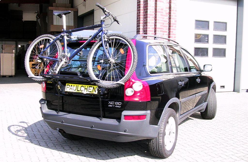 Hitch Bike Rack Reviews >> Bicycle carrier for Volvo XC90 I - Paulchen Heckträger System | Fahrradträger