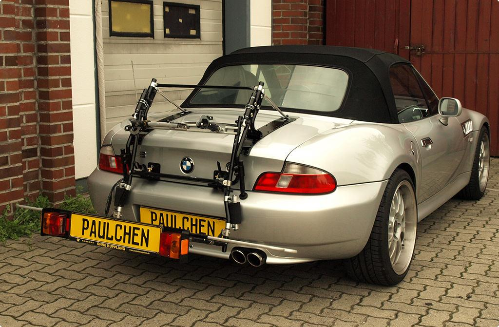 bmw z3 cabrio fahrradtr ger am heck. Black Bedroom Furniture Sets. Home Design Ideas