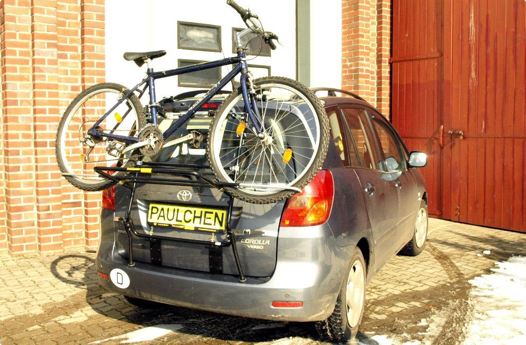 2002-2007 Fahrradträger Heckklappe für 3 Fahrräder Heckträger Toyota Corolla Bj