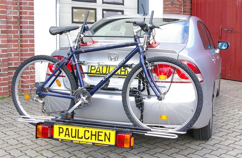 bicycle carrier  honda civic viii hybrid stufenheck fdfa paulchen hecktraeger system
