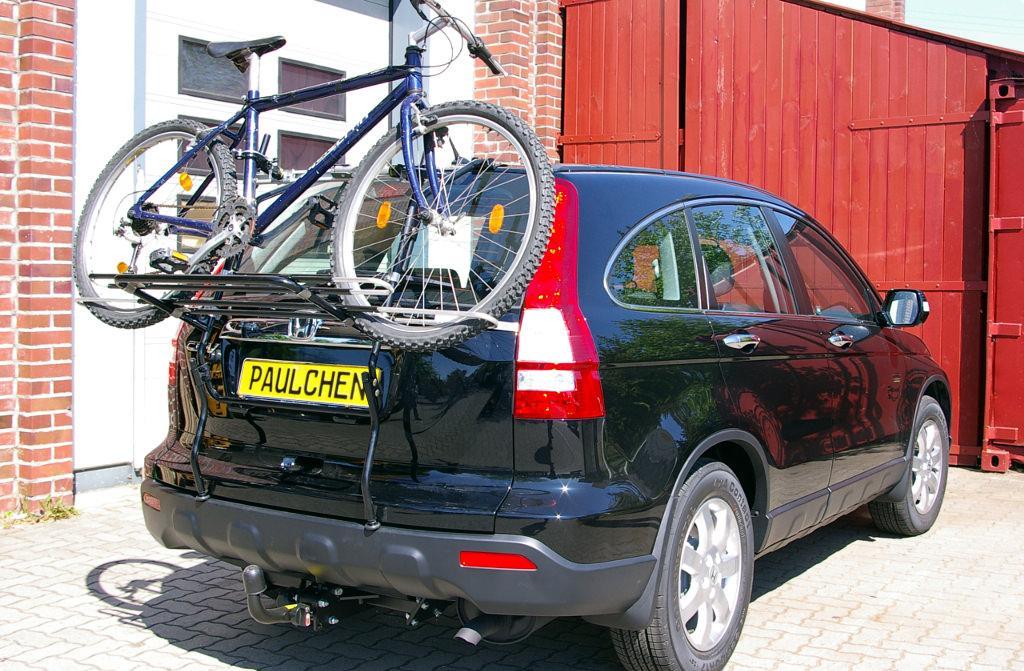 bicycle carrier  honda cr  iii  paulchen hecktraeger system fahrradtraeger