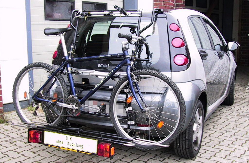 smart smart forfour fahrradtr ger am heck. Black Bedroom Furniture Sets. Home Design Ideas