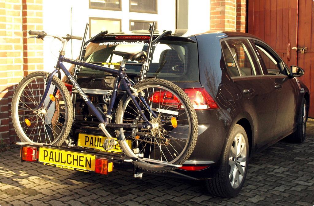 fahrradtr ger f r vw golf vii 5g1 paulchen hecktr ger. Black Bedroom Furniture Sets. Home Design Ideas