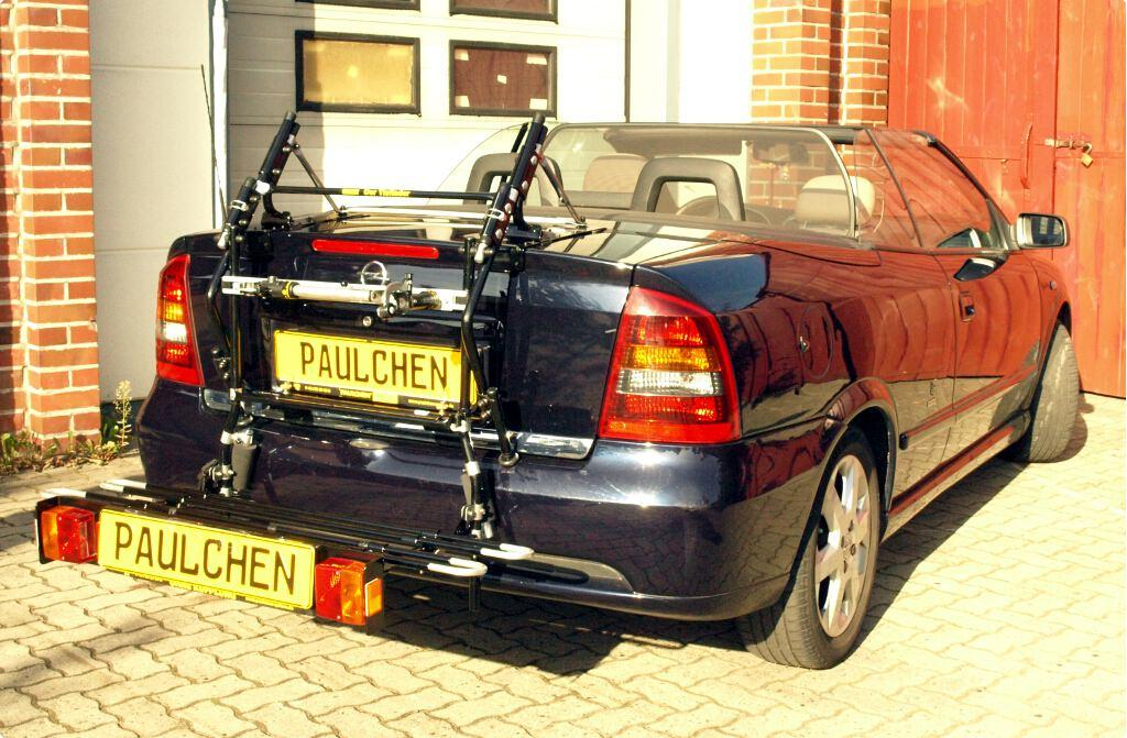 opel astra g cabrio coupe fahrradtr ger am heck. Black Bedroom Furniture Sets. Home Design Ideas