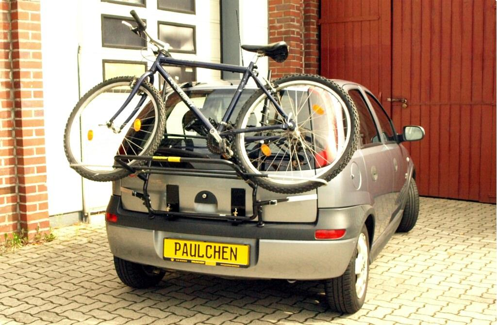 fahrradtr ger f r opel corsa c paulchen hecktr ger system. Black Bedroom Furniture Sets. Home Design Ideas
