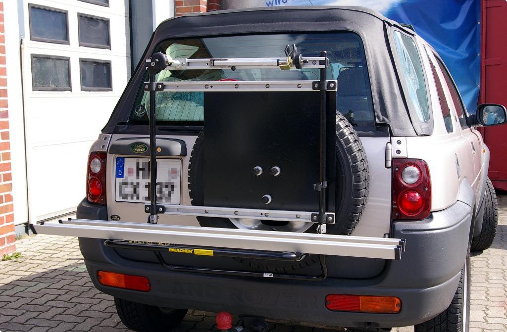 land rover rover freelander fahrradtr ger am heck paulchen hecktr ger system fahrradtr ger. Black Bedroom Furniture Sets. Home Design Ideas