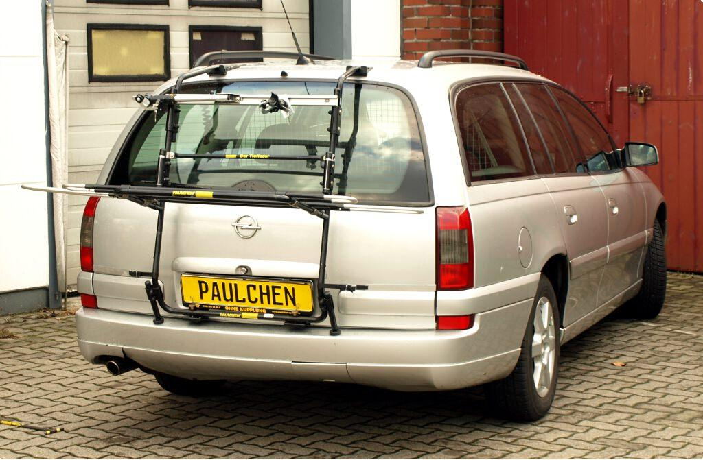 opel omega b caravan fahrradtr ger am heck paulchen. Black Bedroom Furniture Sets. Home Design Ideas