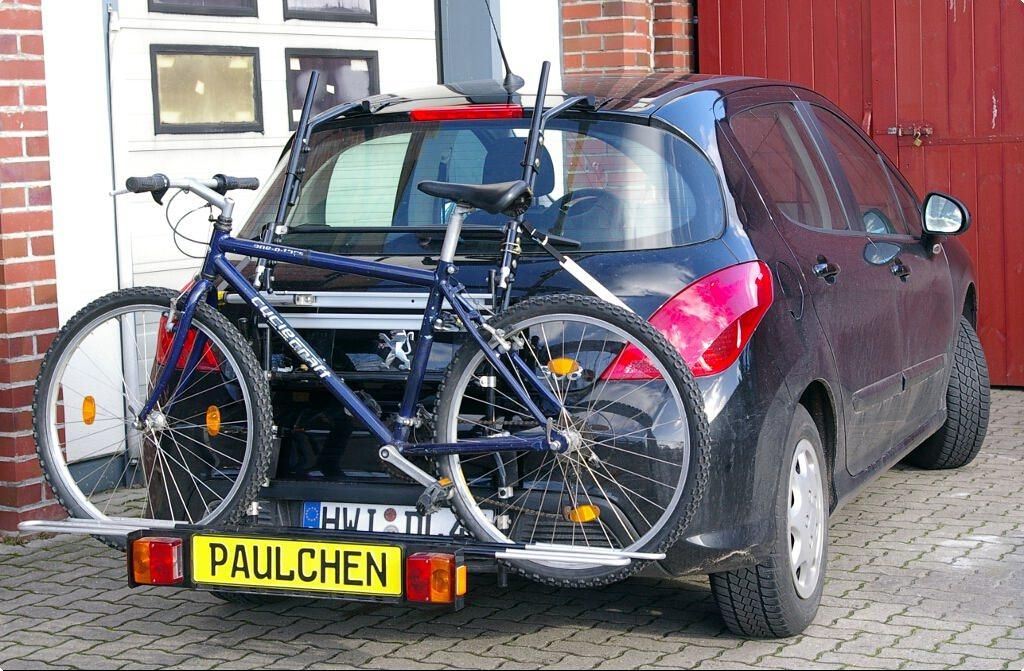 fits Peugeot 308 2007-2017 3 Cycle Carrier Rear Tailgate Boot Bike Rack